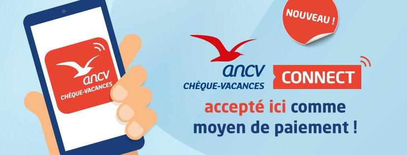 Nous acceptons les chèques vacances et les chèques vacances connect dématérialisés